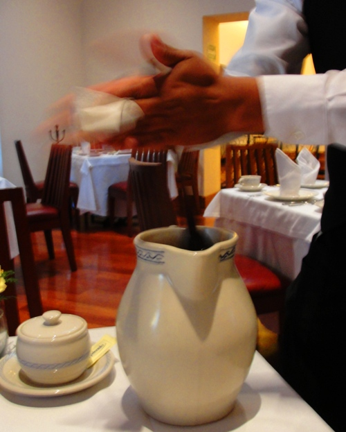 Frothing Chocolate - El Cardenal Restaurant - Chocolate - Mexican Breakfast