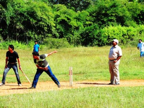 Cricket in India - Bangalore - Playground Cricket - Bowling - Stumps