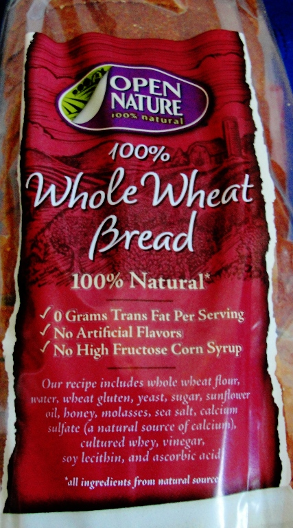 Open Nature 100% Whole Wheat Bread - Lucerne - Safeway - Home Pride Replacement - Flowers Foods