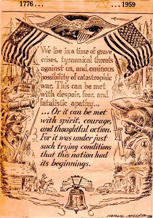 Frank Andrea Miller - Des Moines Register - Political Cartoon - Cold War - 1776-1959