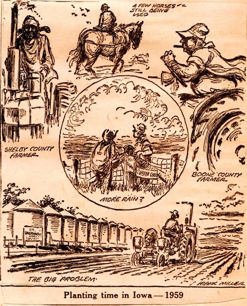 Planting Time in Iowa - Cartoon - Frank Andrea Miller - Frank Miller