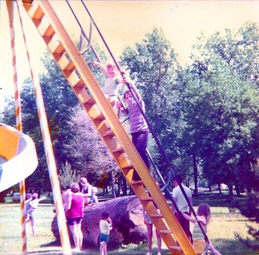 Curly Slide Park - Lagoon Park - Greater Ottumwa Park - Ottumwa, Iowa