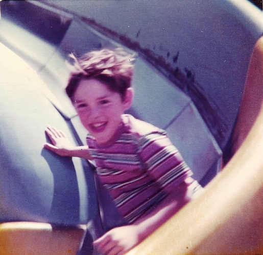 Big Curly Slide - Ottumwa, Iowa - Lagoon Park - Wind in my hair
