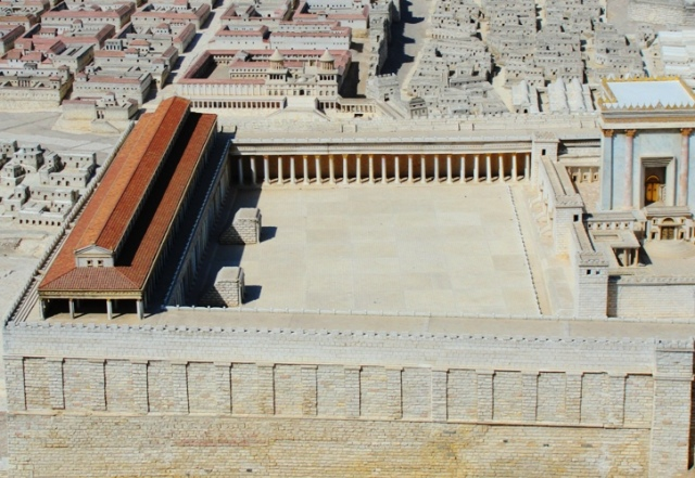Temple Mount - Herodian Temple - South Temple Courtyard - Israel Museum Temple Model