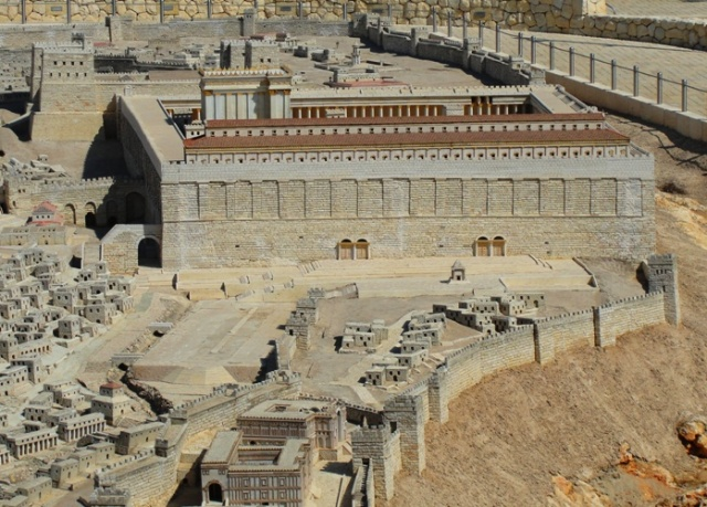 South Wall of Temple Mount - Jerusalem - Southern Stairs - Israel Museum Model