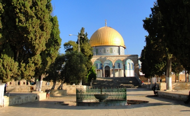 Temple Mount - Dome of the Rock - South Courtyard on Temple Mount - Day of Pentecost