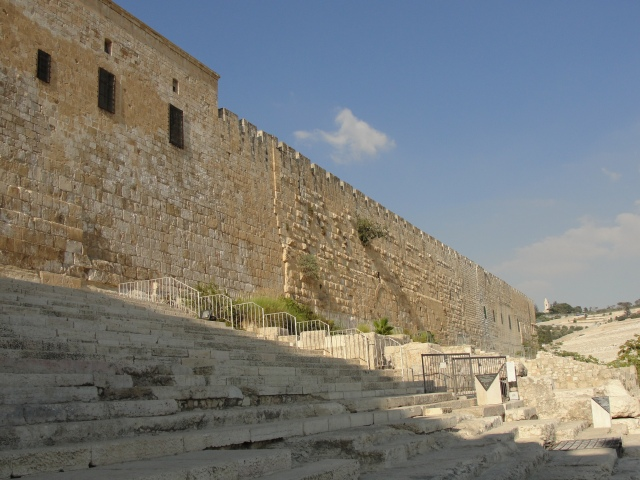 South Stairs to Temple Mount - Jerusalem - Pentecost Sermon Location? - Temple Mount