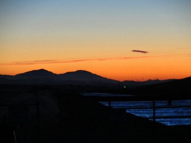 Mount Diablo - California Aqueduct - California Sunset - Reflection - Silhouette
