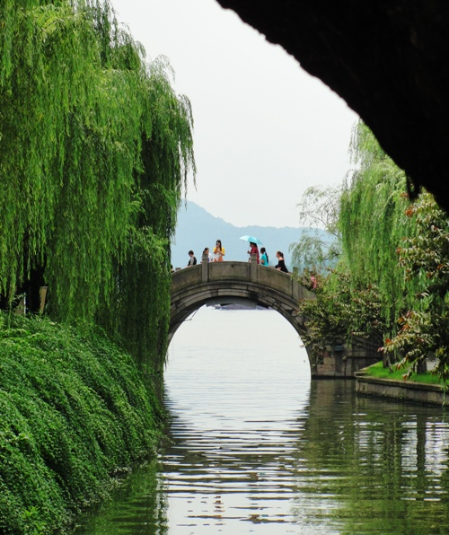 West Lake - Hangzhou, China - Old Bridge - Reflection - China Tourism