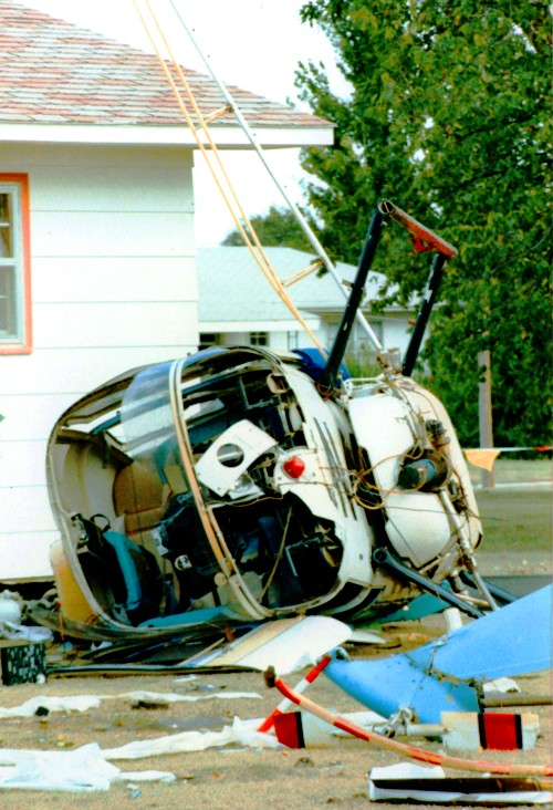 Helicopter Crash - Aviation disasters - Out of Fuel - Ashland, Kansas - Aerial Sprayer