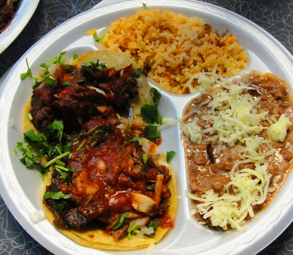 Carnitas Tacos - Mexican Food - Ernie's Taqueria - Patterson, California - Mexican Food - authentic Mexican Food