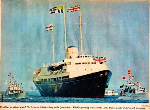 Royal Toy or Ship of State - HMY Britannia - Royal Yaught - 1959 Royal Tour of Canada - Queen Elizabeth