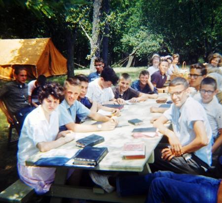 Bible Camp in Iowa - Kamp Keoma - Bible Class at camp - Old Time Bible Camp