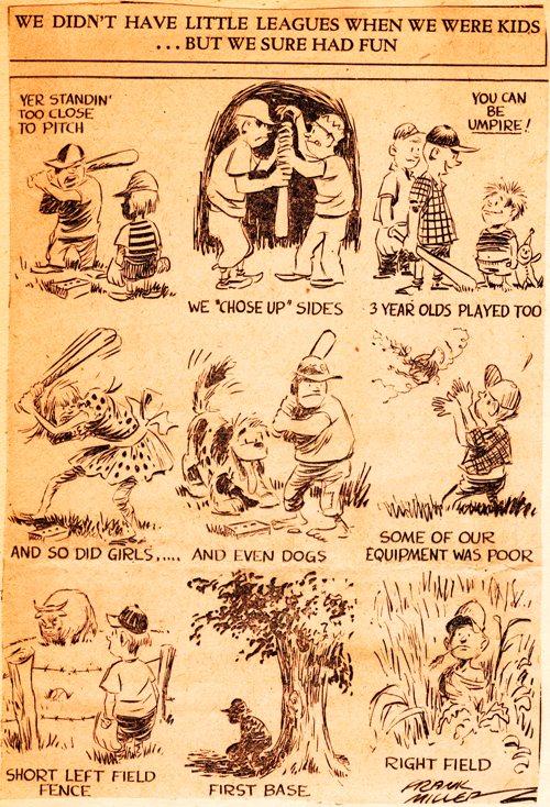 Frank Andrea Miller - Editorial Cartoon - Little League Baseball - World Series - Summer Games - Baseball - America's Pastime