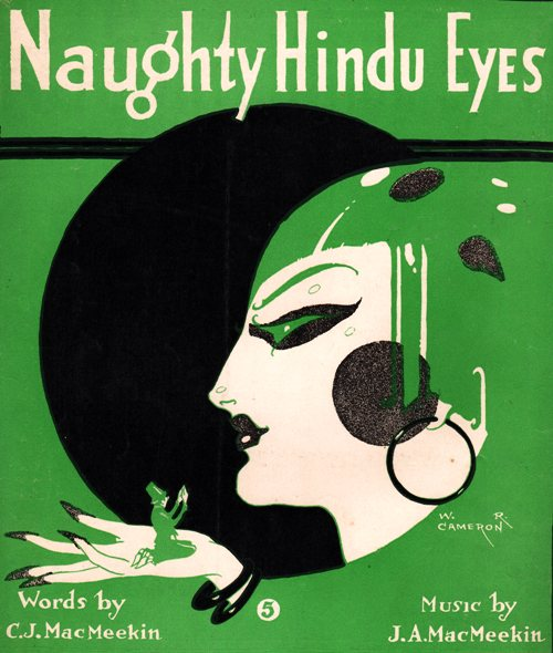 Naughty Hindu Eyes - Old Sheet Music - 1919 Piano Music - J. A. MacMeekin - W. R. Cameron