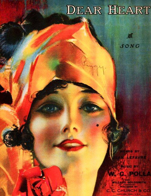 Dear Heart - 1919 Sheet Music - W. C. Polla - Jean LeFavre - C. C. Church and Co.