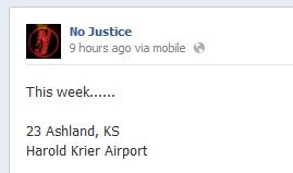 No Justice - Red Dirt Country - Southwest Country Fest - Facebook Post