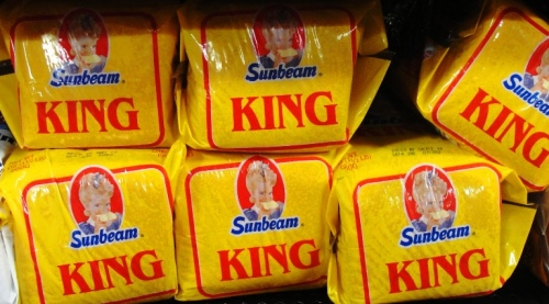 Sunbeam King Bread - Sunbeam Bread - Bread Aisle - Girl Eating Bread - Home Pride Replacement - Bread Aisle