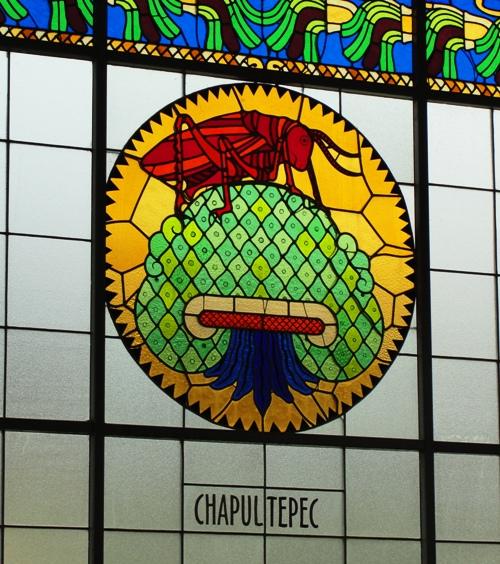 Chapultepec Castle - Chapultepec Hill - Grasshopper Hill - Castillo de Chapultepec - Stained Glass Window