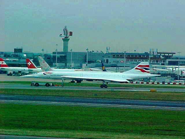 Concorde - Heathrow - Septemer 11, 2001 - 9/11 - Test Flight of Concorde