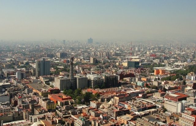 Mexico City Overhead View - View from Torre Latinoamericana - September 19 - Mexico City Earthquake - Earthquake Drill