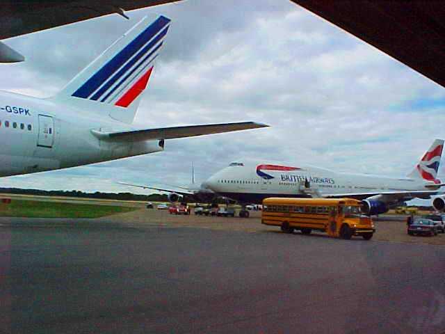 Planes on Runway - 9/11 - September 11, 2001 - Edmonton, Canada - British Airways - Tragedy