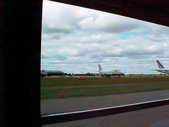 British Airways 747 on runway in Edmonton - September 11, 2001 - 9/11 - Unplanned Landing