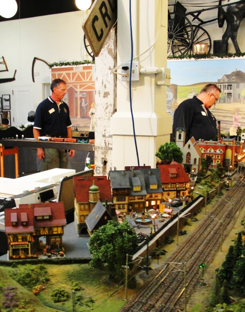 Tracy, California - Tracy Historic Museum - Tank Town - European Train Enthusiasts - Model Train Layout - Mural