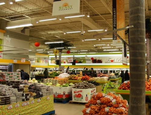 Grocery Store, Produce Section, Canadian Food