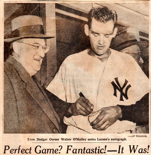 Perfect Game? Fantastic! It Was! - Don Larsen - World Series Perfect Game - Baseball playoffs - New York Yankees