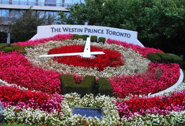 Westin Prince Toronto Canada - Flower Clock - Fall Colors - Floral Clock
