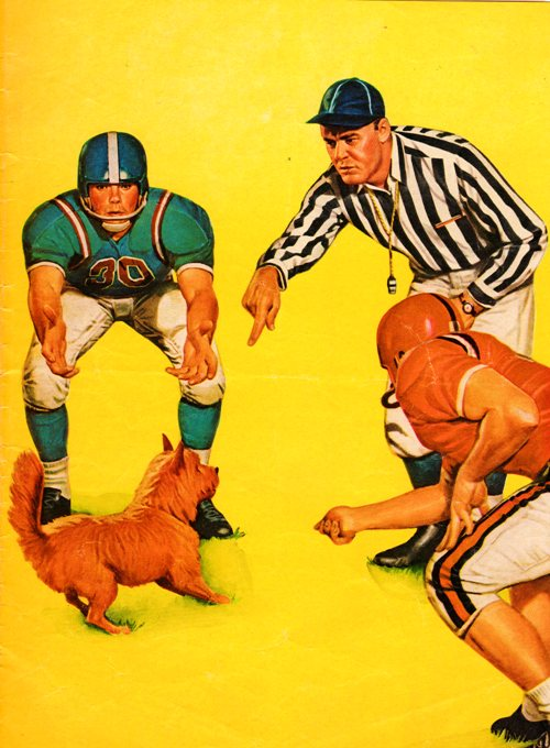 Football Program Cover - 1962 Football Program - High School Football - Hamburg Wildcats - Rock Port Bluejays - Coca cola - Humor