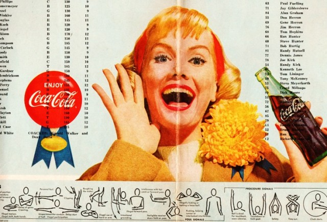 1960's Football Program - High School Football - Coca Cola - Referee Signals - Coca Cola Ad - Cheering Mother - Mum