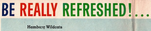 1960's Football Program - High School Football - Coca Cola - Hamburg, Iowa - Rockport, Missouri - Wildcats vs. Bluejays