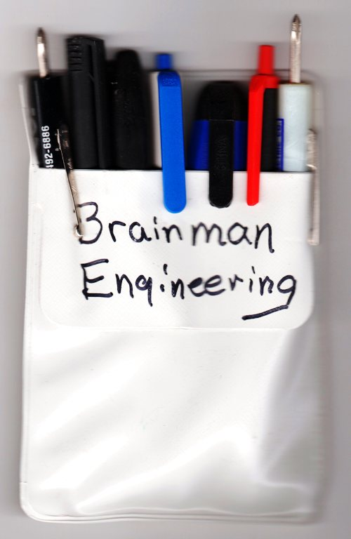 Nerd Party - Pocket Protector - Brainman engineering - costume party - Halloween