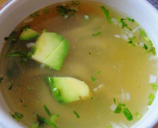 Chicken Soup in Mexico City - Chicken Soup with Avocado - Sopas