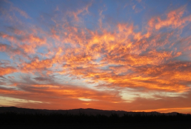 Beautiful Sunset - California Central Valley - Patterson - Westley - Colorful Sunset - Mountain Sunset