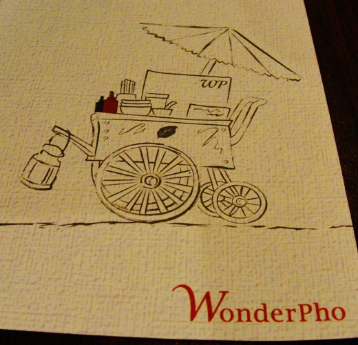 Placemat Illustration - WonderPho - Vietnamese Cuisine - North York, Canada