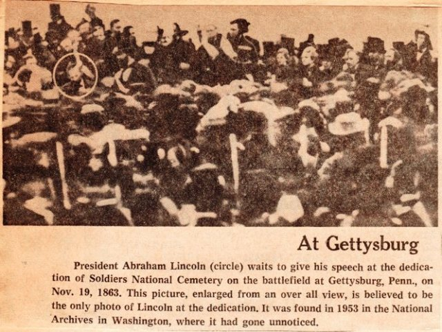 Gettysburg Address - Abraham Lincoln - Old Photograph - Fourscore and seven years ago - David Bachrach