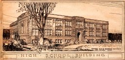 Hamburg High School - Hamburg, Iowa - High School Building - Architectural Drawing - Dougher, Rich & Woodburn Architects
