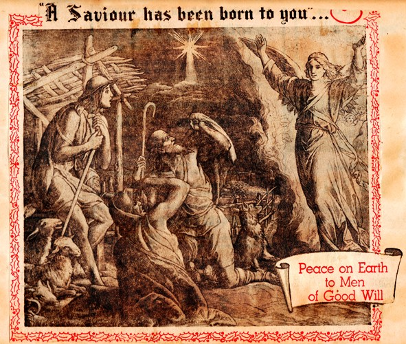 Peace on Earth - 1957 - Scrapbook - A Saviour has been born to you - Good Will to Men
