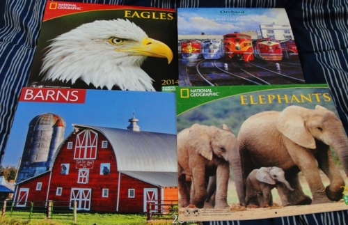 2014 Calendars - Happy New Year - Eagles - Barns - Elephants - Trains