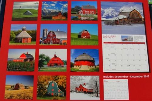 Barns Calendar - 2014 Barns - Calendar Day - memories - Agriculture - Red Barns
