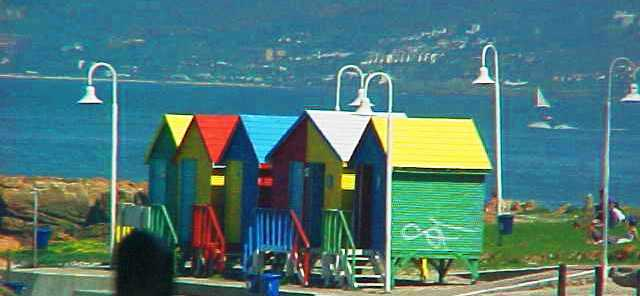 False Bay - Capetown, South Africa - Beach Huts - Colorful Beach Huts