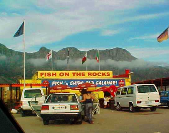 Fish on the Rocks - Hout Bay, South Africa - Table Mountain - Fish and Chips
