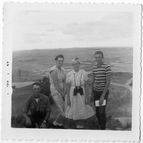 Badlands South Dakota - Sightseeing at the Badlands - 1950's - Family Picture