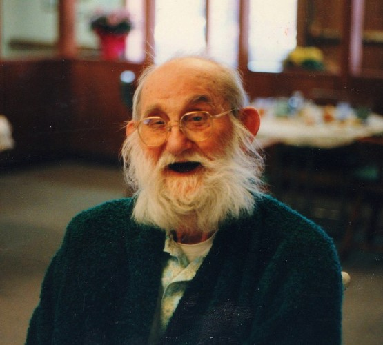 Grandpa - Last Picture - Nursing Home - Shenandoah, Iowa - Memories - White beard