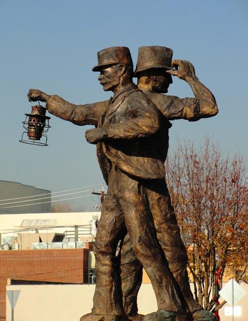 Harvest of Progress - Statue - Tracy, California - Railroad and Farm - Railroad Conductor