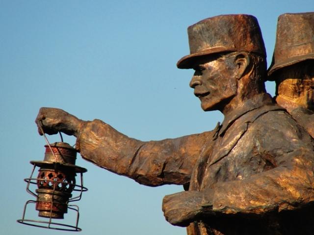Railroad Conductor - Harvest of Progress - Tracy, California - Railroad History