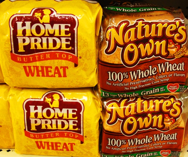 Breads from Flowers Foods - Home Pride Wheat - Nature's Own Wheat Bread - Home Pride Update